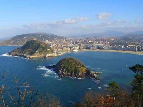 San Sebastijan - pogled sa brda Igueldo