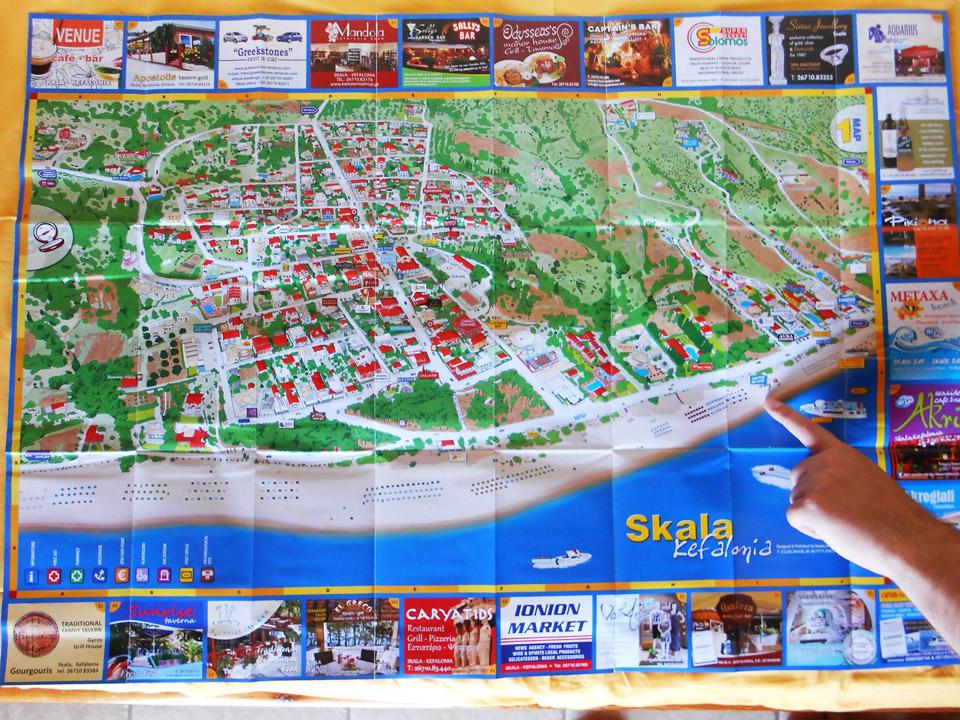 Mapa Skale