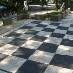 Šahovksa tabla ispred oficirskog doma